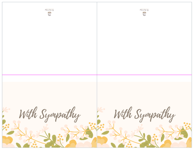 This is a photo of Sympathy Card Printable with apology