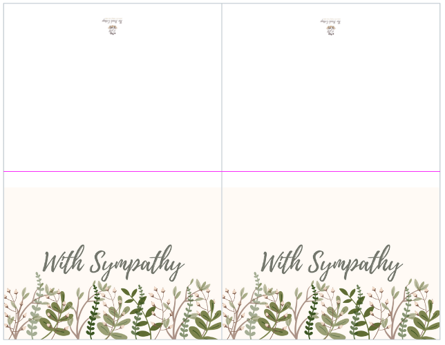 photo relating to Printable Sympathy Cards known as A deal of contentment some heartbreaking information with printable
