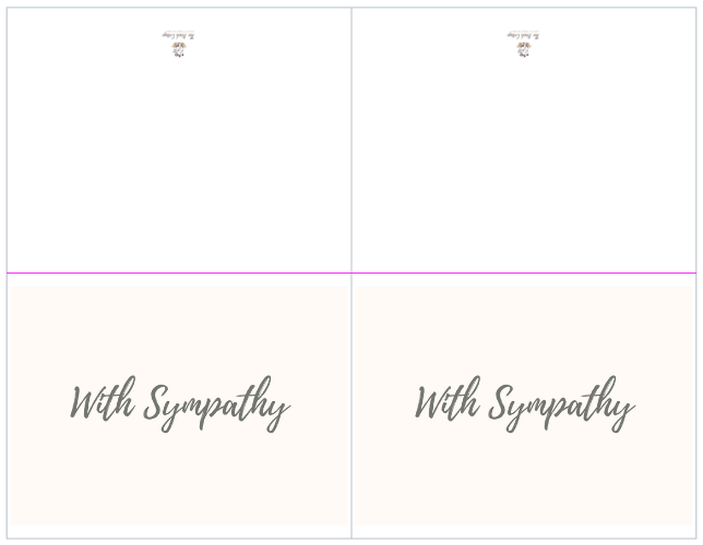 It's just an image of Sympathy Card Printable regarding bereavement