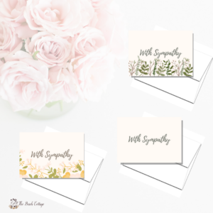 A bundle of joy & some heartbreaking news with printable sympathy cards