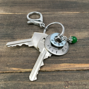 Make this Hand Stamped Washer Key Chain for Father's Day