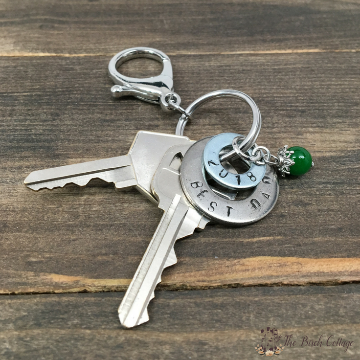 DIY Hand Stamped Washer Key Chain by The Birch Cottage 04