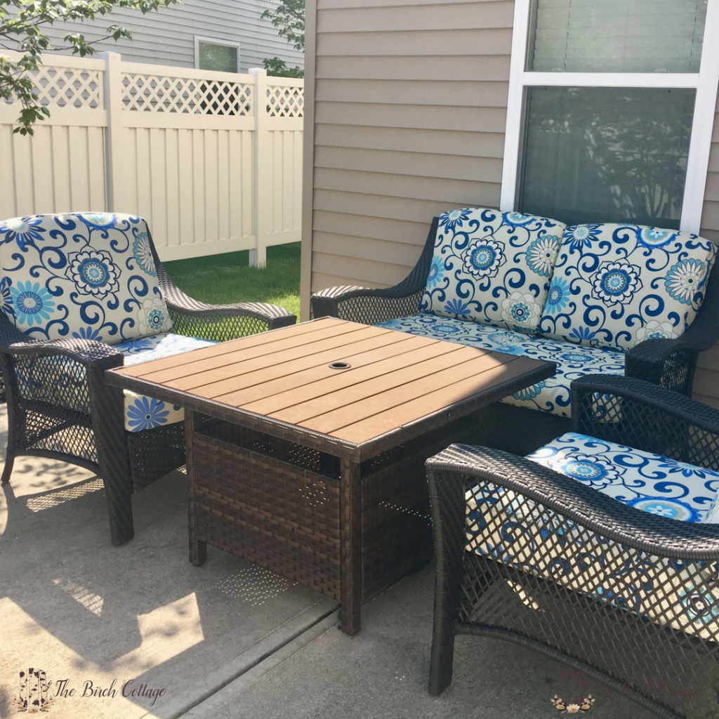 Update Patio Furniture Recover Seat Cushions by The Birch Cottage