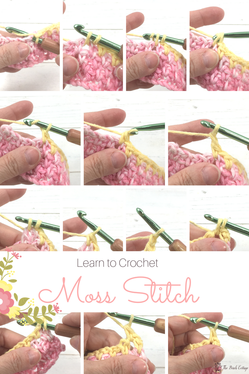 Learn to crochet the moss stitch by The Birch Cottage