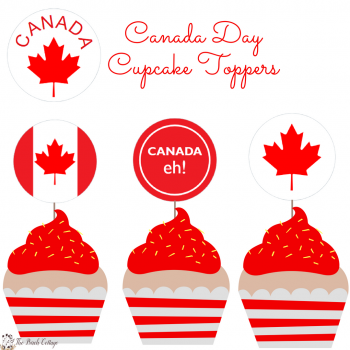 Canada Day Cupcake Toppers for Avery 22817 by The Birch Cottage
