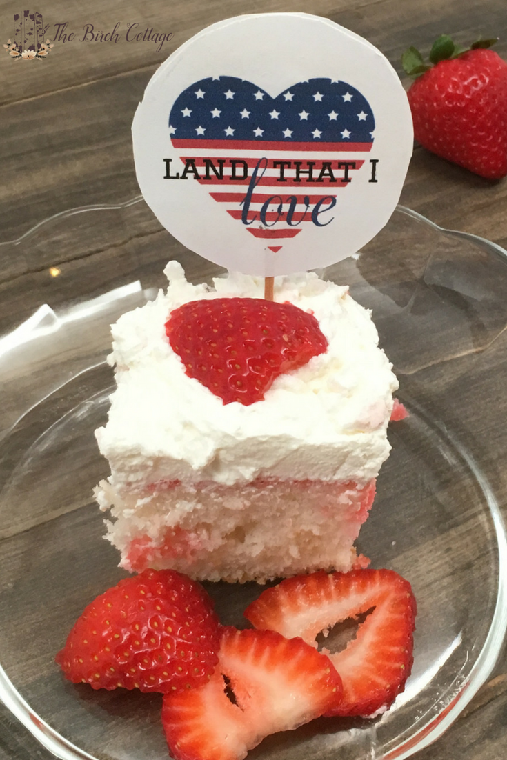 Strawberry Gelatin Poke Cake Recipe