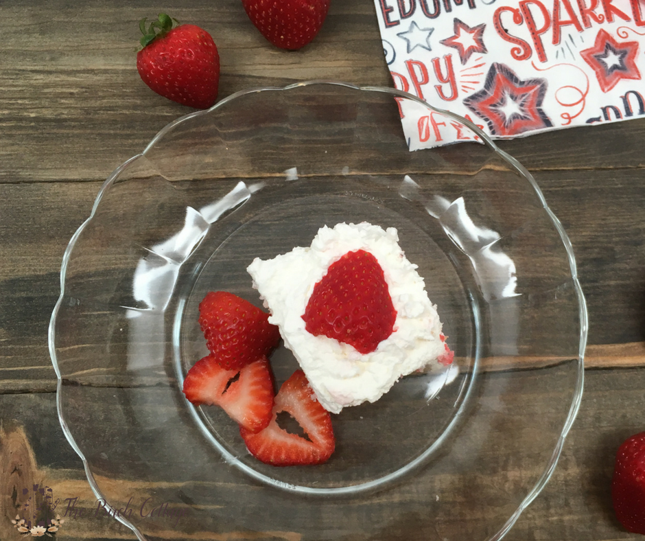 Strawberry Gelatin Poke Cake by The Birch Cottage