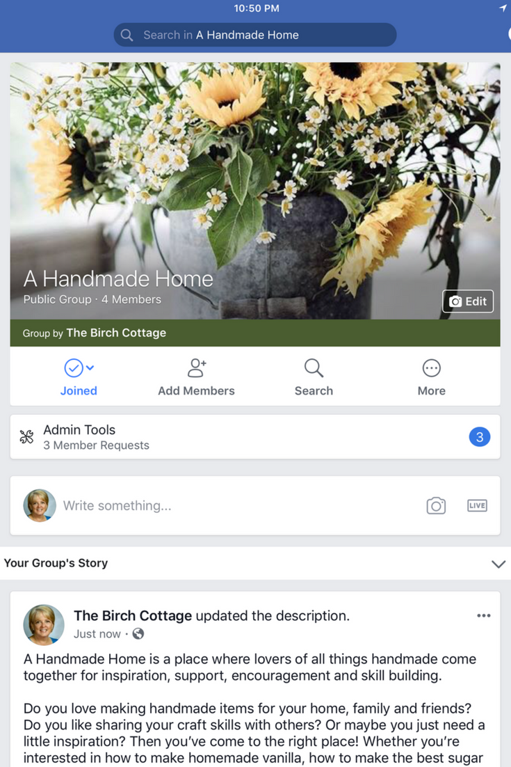 A Handmade Home Facebook Group