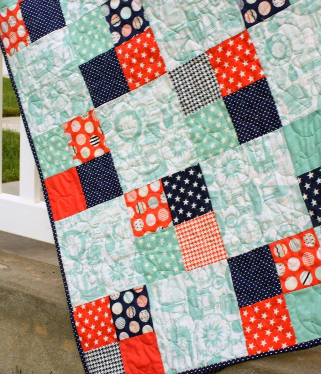 Beginner Quilting Project Ideas - Fast Four Patch Quilt Tutorial by Diary of a Quilter