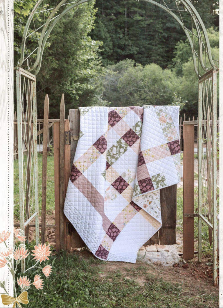 Beginner Quilting Project Ideas - Harvest Quilt Pattern by Bonnie Christine