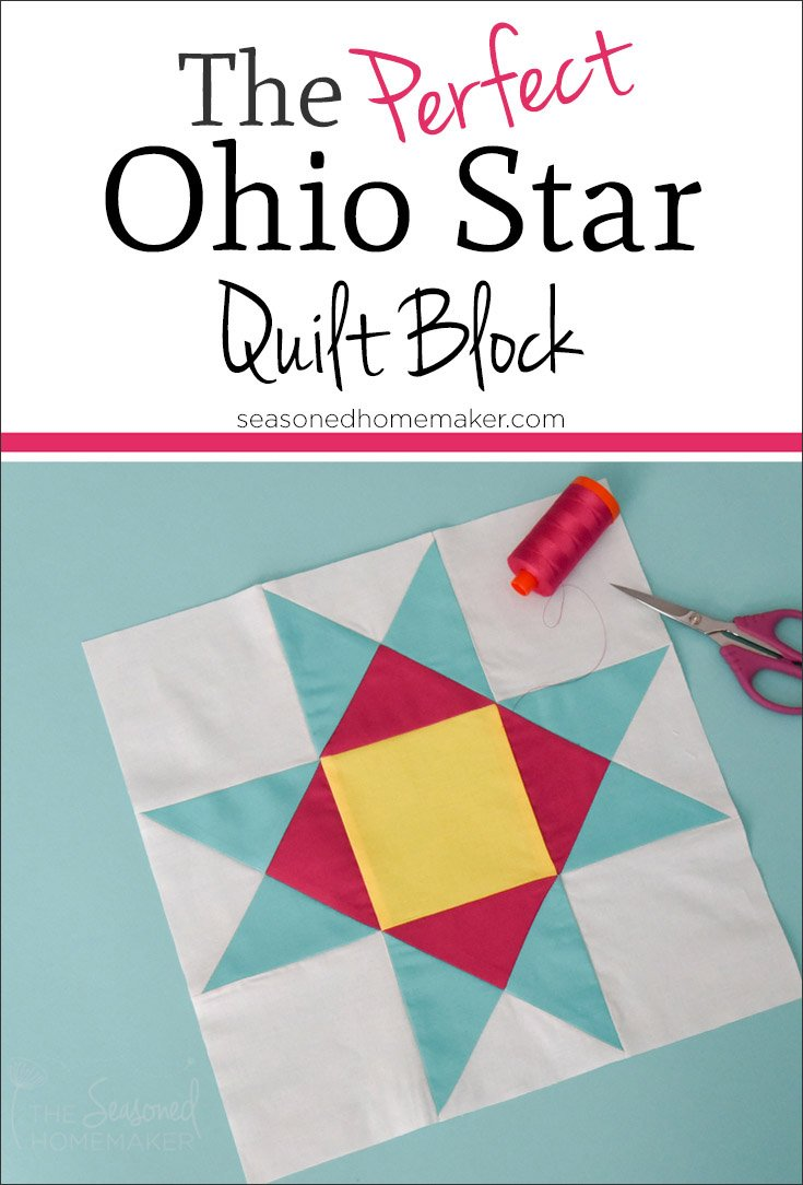 Beginner Quilting Project Ideas - Ohio Star Quilt Block by The Seasoned Homemaker