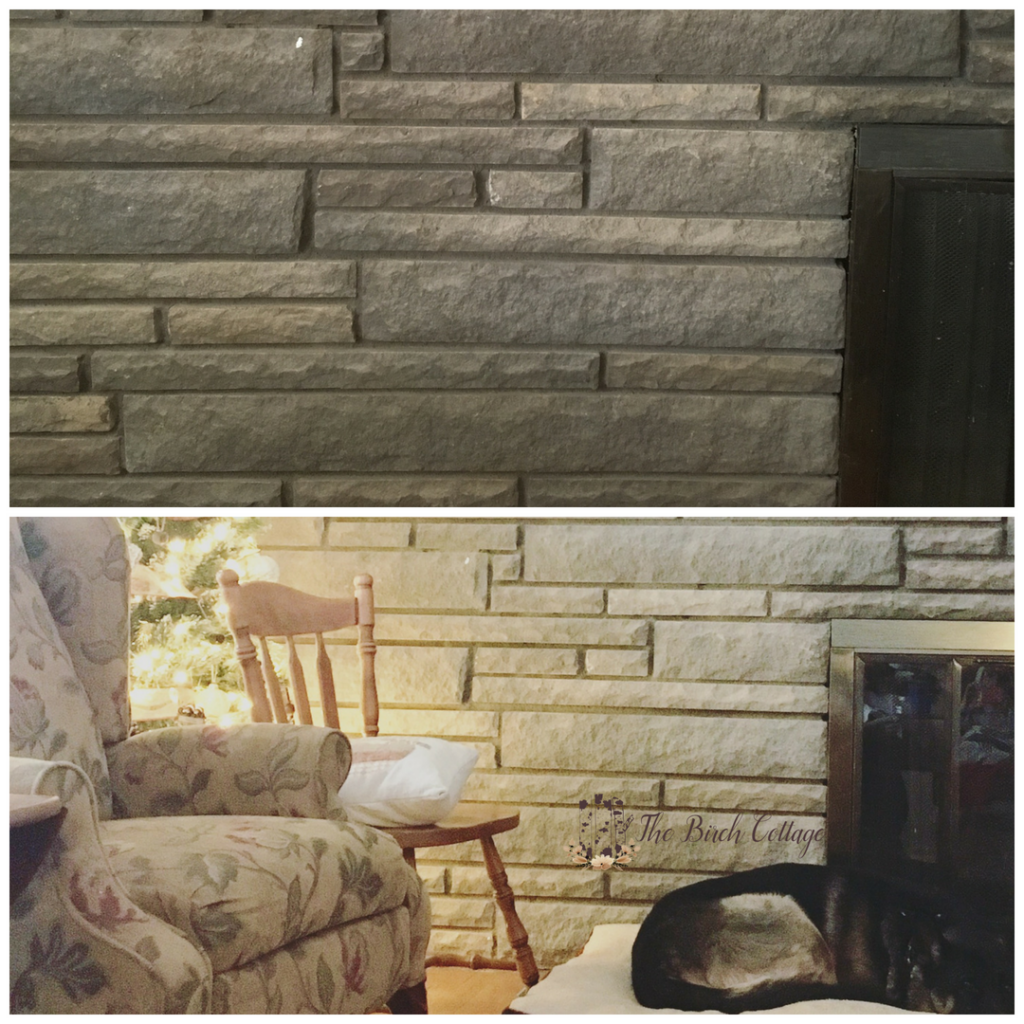 Learn How To Paint A Stone Fireplace The Birch Cottage