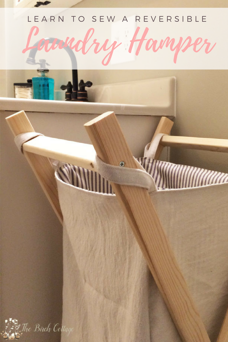 Sew a Reversible Hamper by The Birch Cottage