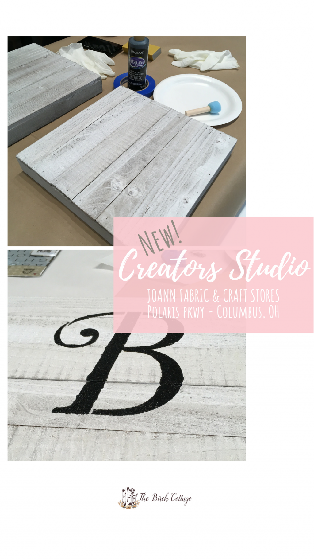 Sign Workshop at JOANN Fabric and Crafts