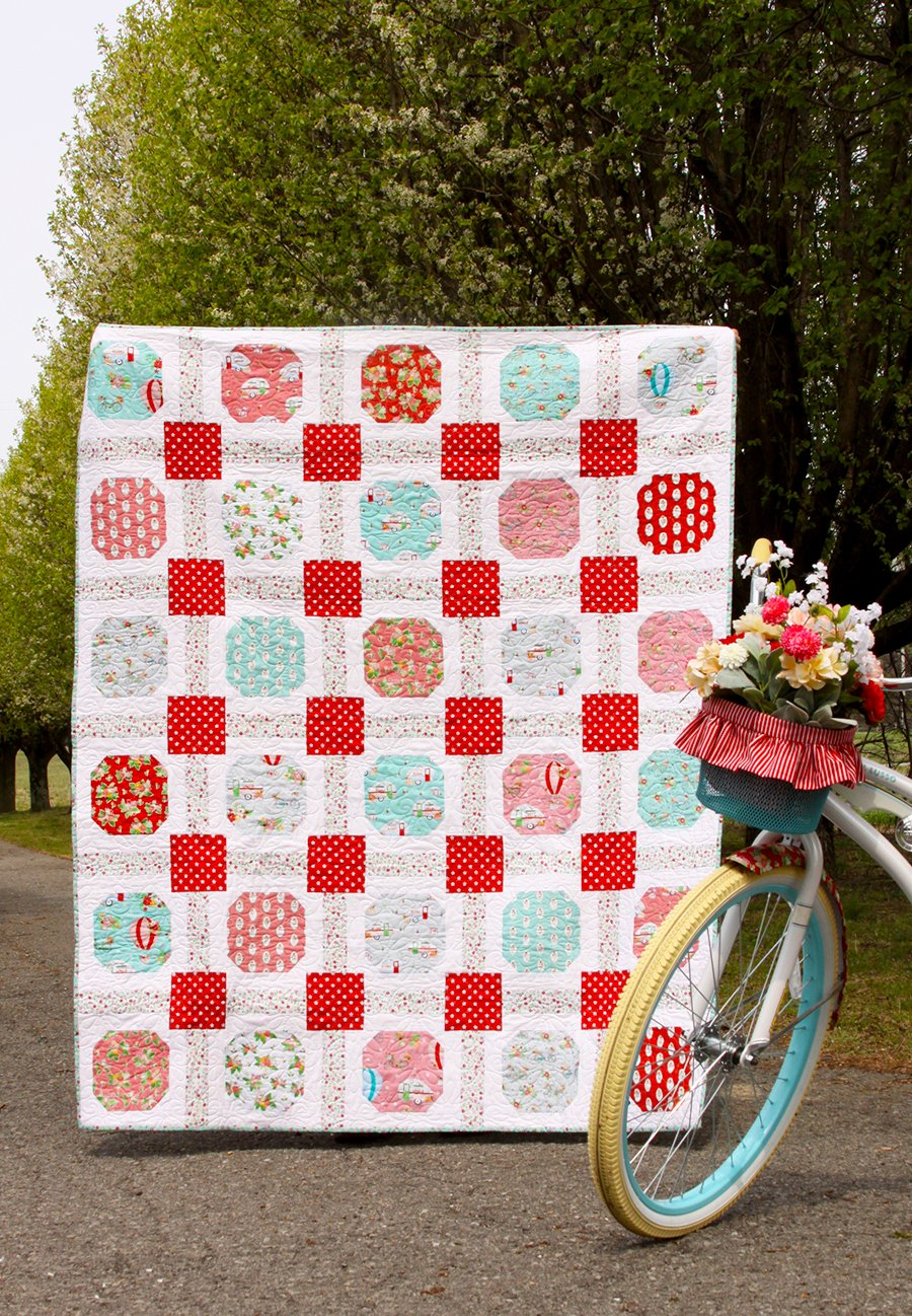 Beginner Quilting Project Ideas - Sweet Squares Quilt Pattern by Flamingo Toes