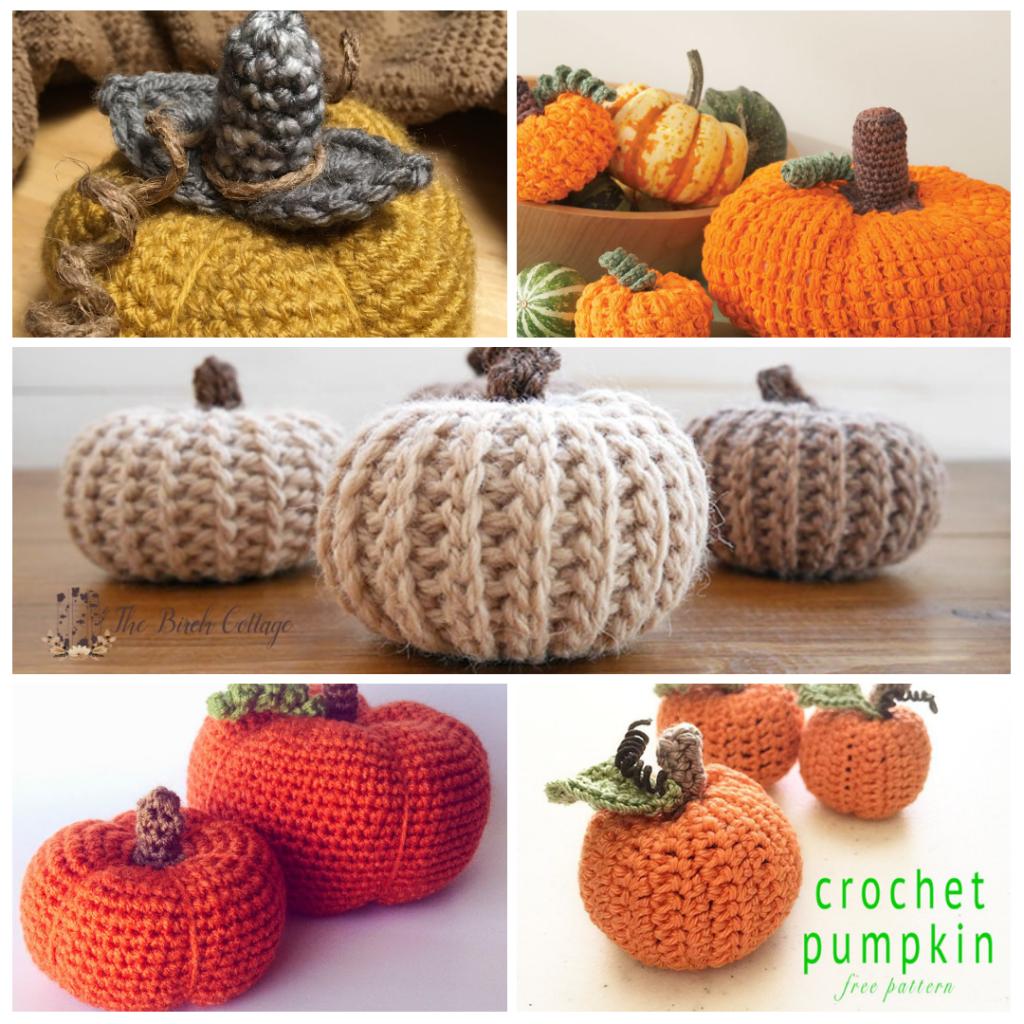 5 Crochet Pumpkin Patterns by The Birch Cottage