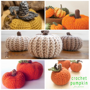 5 Crochet Pumpkin Patterns by The Birch Cottage