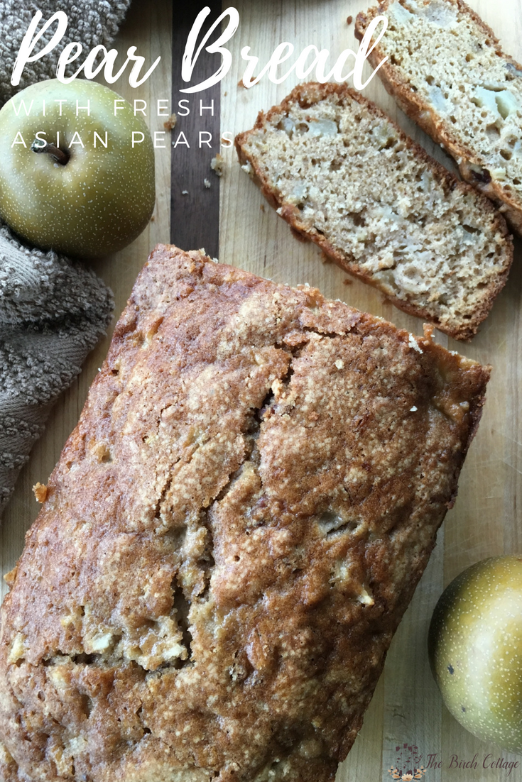 resh Pear Bread Recipe Card by The Birch Cottage