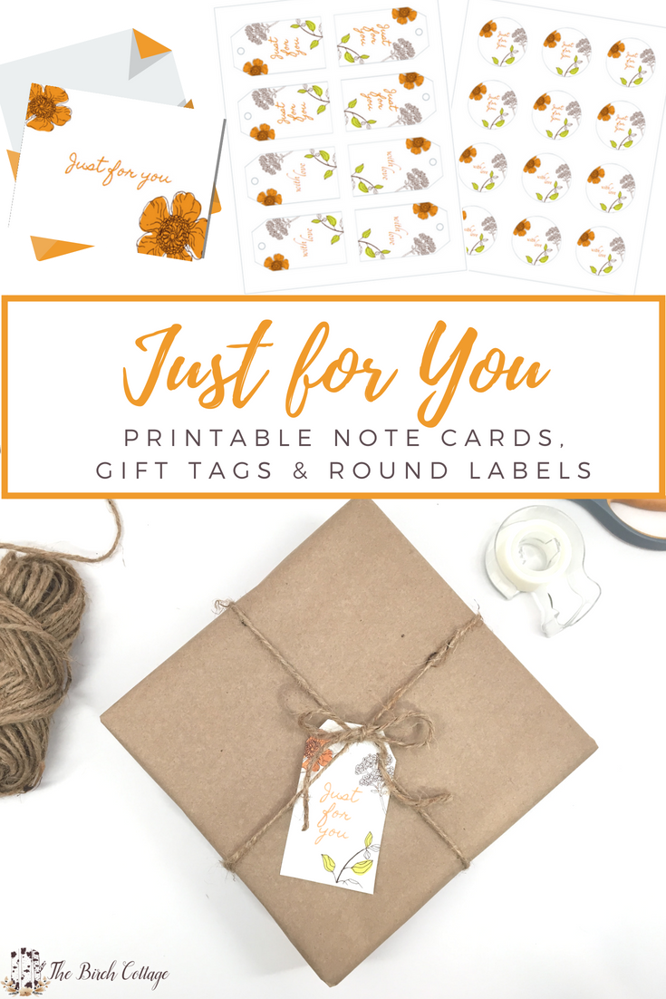 picture regarding Free Printable Tags referred to as Exactly For By yourself - Cost-free Printable Notice Playing cards, Reward Tags and