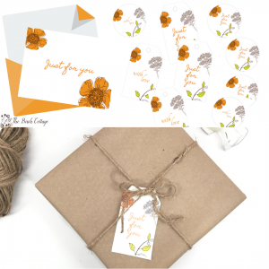 Just For You – Free Printable Note Cards, Gift Tags and Labels