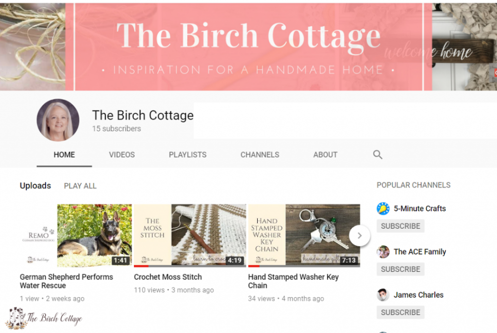 The Birch Cottage YouTube Channel