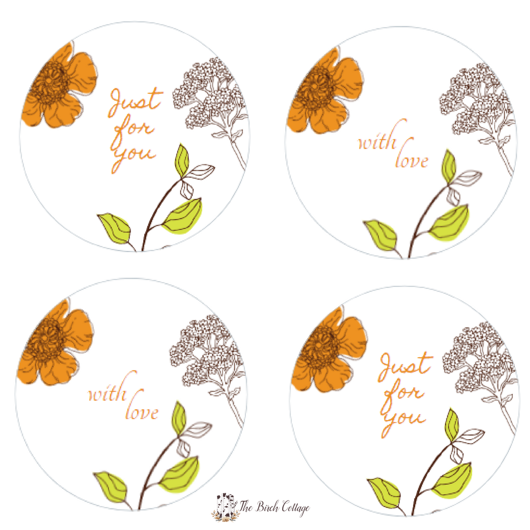 Just for You - Avery 22817 - Round Labels by The Birch Cottage