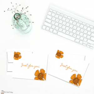 Just for You - Avery 8315 - Note Cards by The Birch Cottage