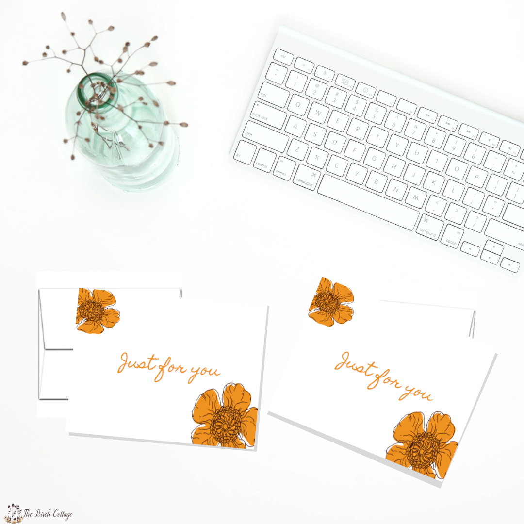 just for you avery 8315 note cards by the birch cottage the