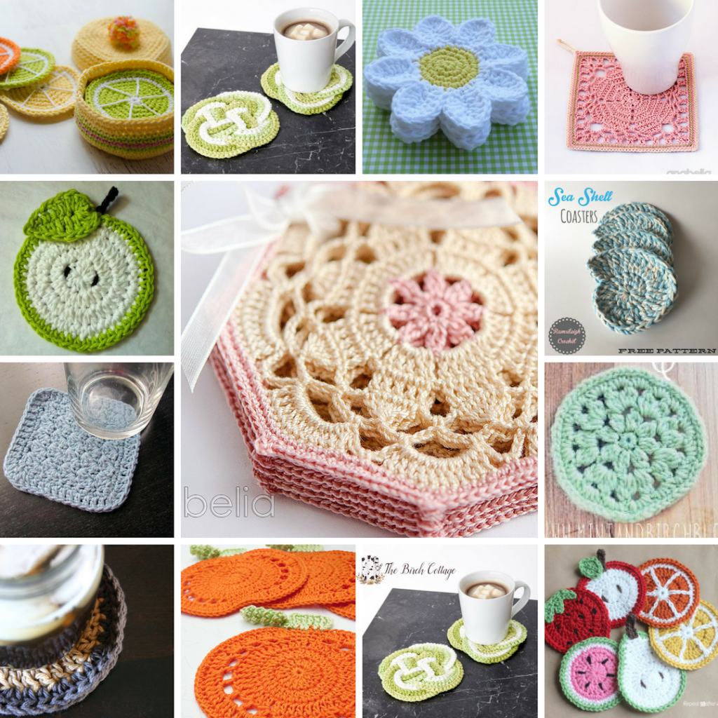 14 Free Crochet Patterns For Crocheted Coasters The Birch Cottage