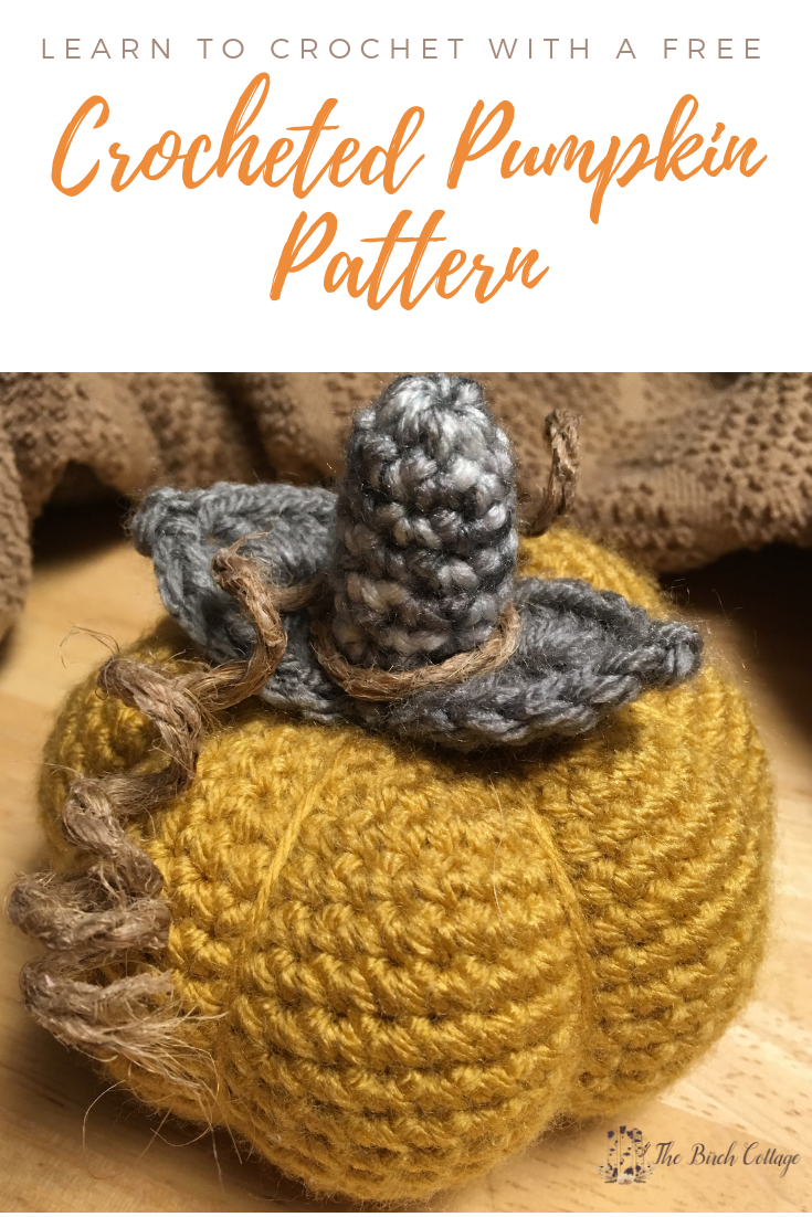 Crocheted Pumpkin Pattern by The Birch Cottage
