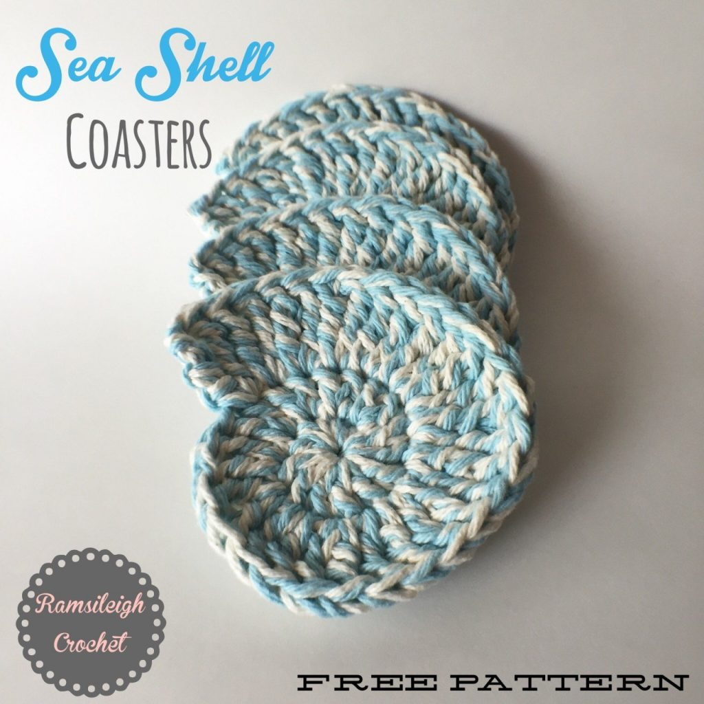 Sea Shell Crochet Coasters