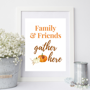 Family and Friends Gather Here Print by The Birch Cottage 01