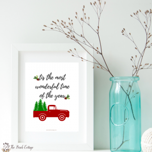 Tis the Most Wonderful Time of the Year Christmas Print by The Birch Cottage
