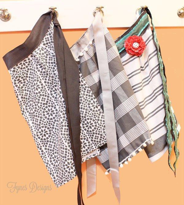 10 minute dish towel aprons