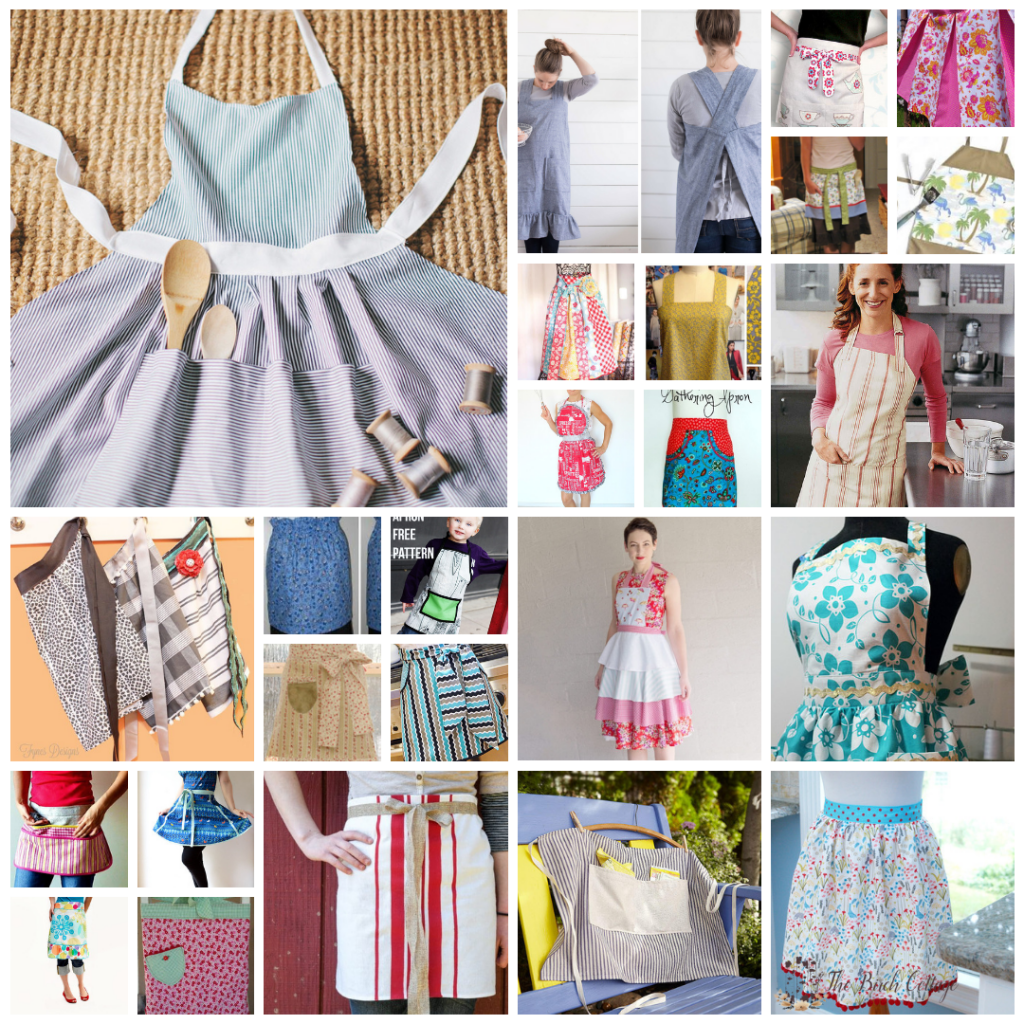 24 Apron Patterns to Sew by The Birch Cottage