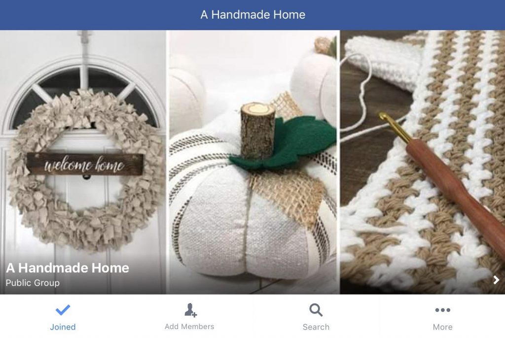 A Handmade Home Facebook Group by The Birch Cottage