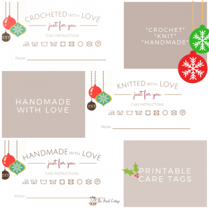 Christmas Handmade with Love Care Tags by The Birch Cottage