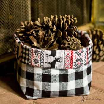 Easy Sew Fabric Bin from The Birch Cottage
