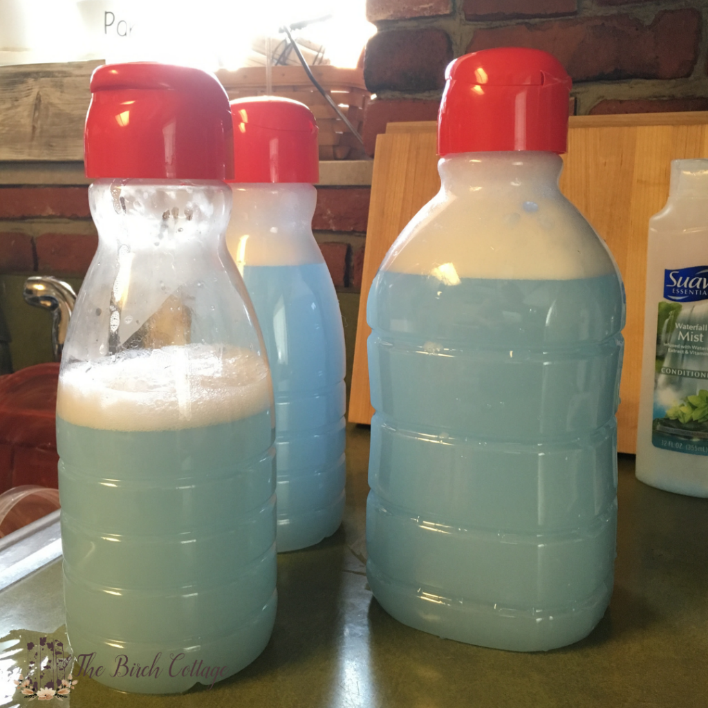Homemade Fabric Softener with Hair Conditioner by The Birch Cottage