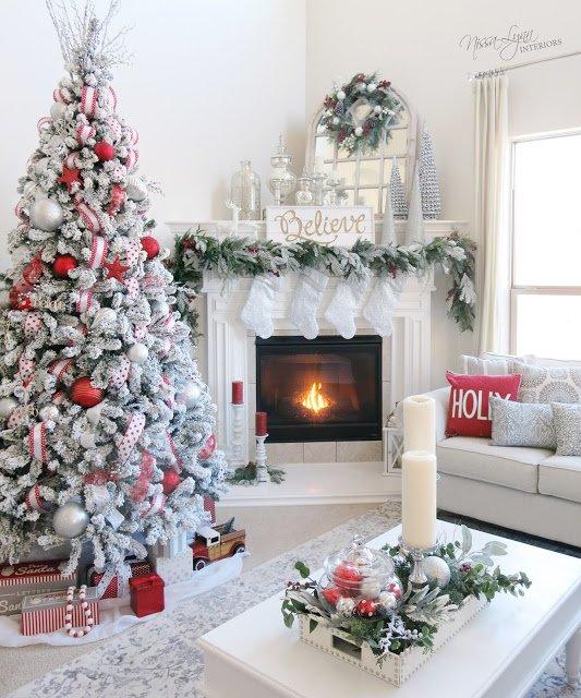 Christmas Mantel fireplace