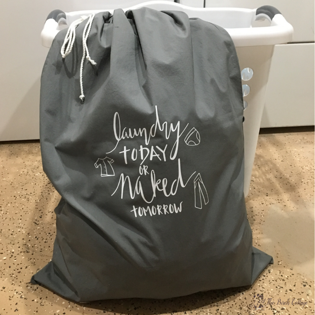 DIY Pillowcase Laundry Bag by The Birch Cottage