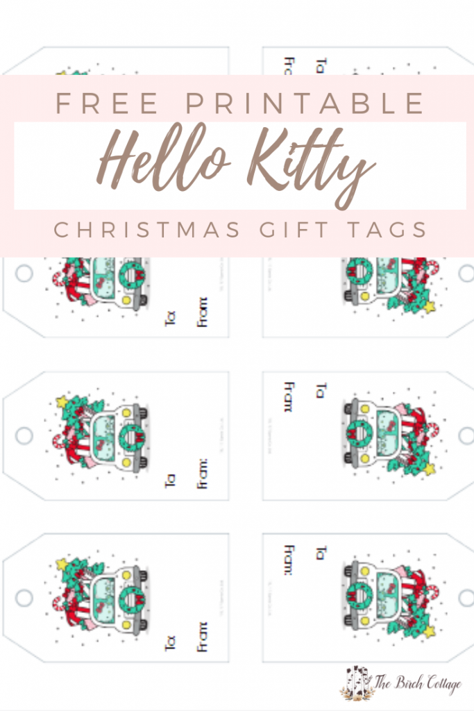 Hello Kitty Christmas Gift Tags by The Birch Cottage