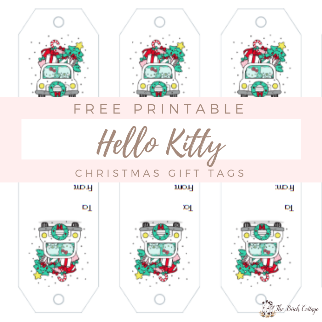 graphic regarding Printable Gift Tags Avery titled Hello there Kitty Present Tags with Avery Style Print On the web - The