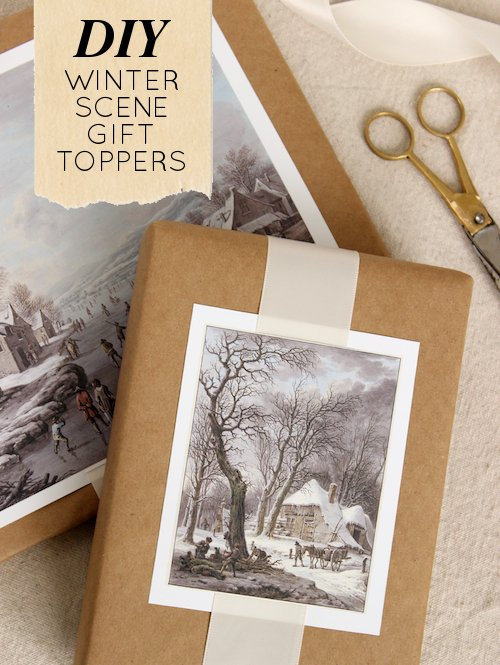 Ideas for Repurposing Christmas cards - Christmas gift toppers