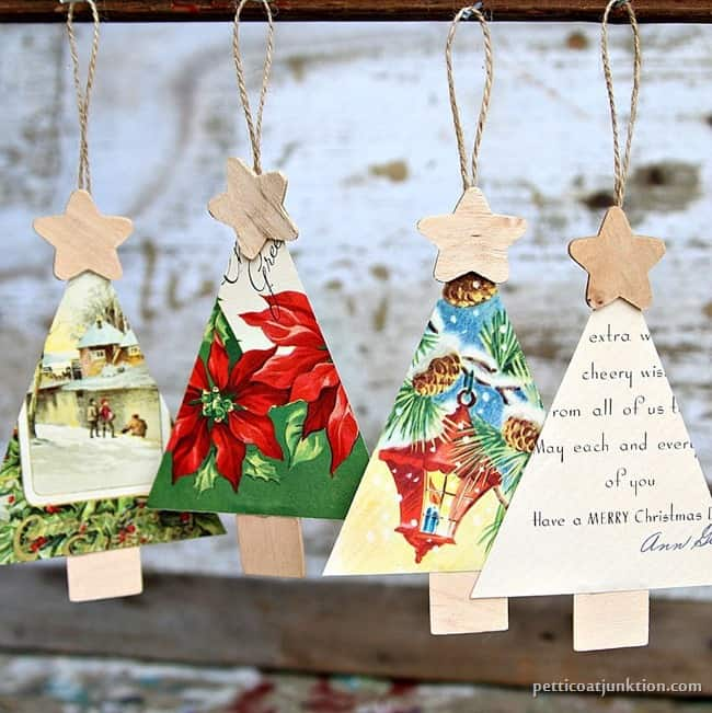 Christmas Card Crafts - Ideas for repurposing Christmas cards!