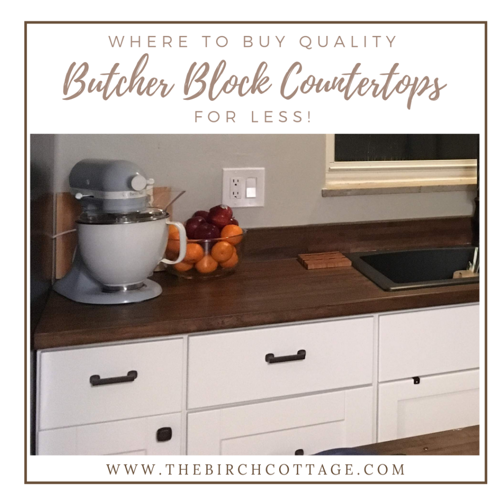 Butcher Block Countertops by The Birch Cottage