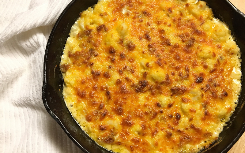 Cauliflower Mac and Cheese with Bacon Recipe by The Birch Cottage