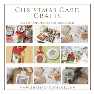Ideas for Repurposing Christmas Cards by The Birch Cottage