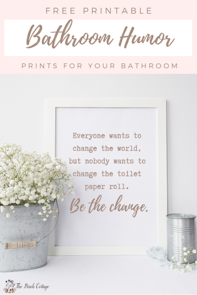 photo regarding Free Printable Bathroom Pictures named 12 Cost-free Printable Lavatory Humor Prints - The Birch Cottage