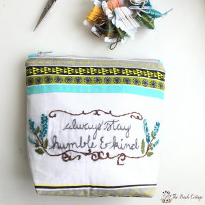Learn to Sew Zipper Pouch by The Birch Cottage